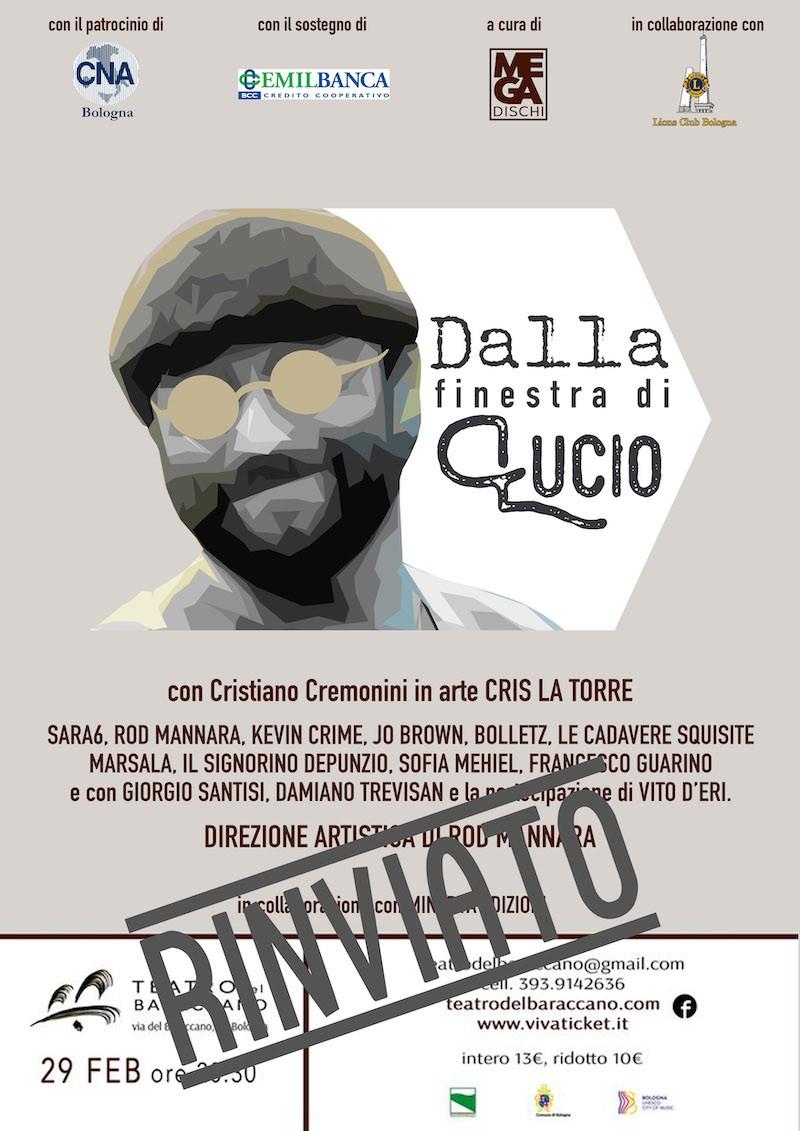 Cris La Torre Tenore Bologna Evento Dalla Finestra di Lucio